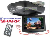"11 "" CAR OVERHEAD FLIP DOWN DVD DIGITAL MONITOR  with USB&Free Shipping  GREY & BEIGE AVAILABLE"