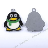 20x New arrival Fashion Jewelry Enamel Penguin Pendant Fit Accessories 140344