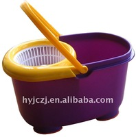 hand press easy mop/ dehydrate and washing/ purple-yellow