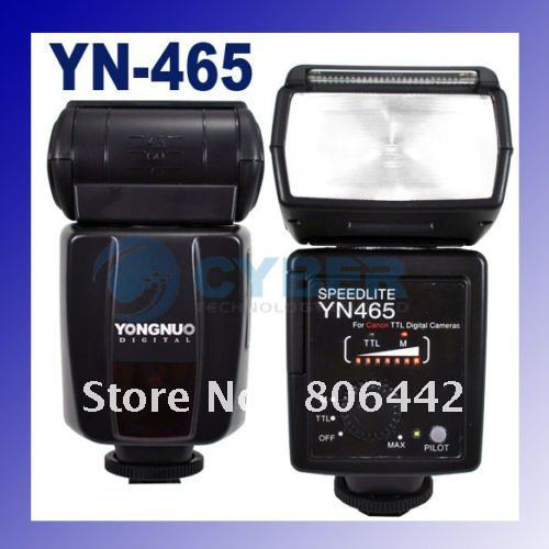 YongNuo YN-465 E-TTL Speedlight Flash Speedlite For Canon DSLR Cameras free shipping(China (Mainland))