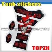MOTORCYCLE MOTOGRAFIX TANKPAD TANK STICKERS DEVIL(trust it) TA009