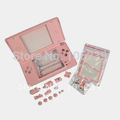 Pink Full Shell Case+Parts&Tool for Nintendo DS Lite NDSL Free shipping W/Tracking number(China (Mainland))