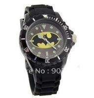 Batman design luminous watch (black),free shipping