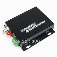 Wholesale,1 Channels Digital Fiber Optical Video Converter,Video Transceiver(Transmitter+Receiver) (1-CH Video + 2 Audio)