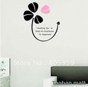 Envío gratis! ZY0238 manual adhesivo decorativo, se puede personalizar, hierba afortunada autoadhesivas pegatinas de pared