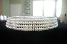 Authentic Genuine freshwater Pearl Choker necklace NIB(China (Mainland))