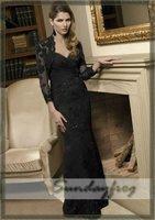 Free Shipping 2012 Custom Make A-Line Floor-Length Chiffon Ruffle Beaded Evening Dress Formal Dress Party Dress Prom Dress -MR39