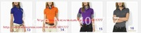 Wholesale Men's  Brand polo shirts,Women's short sleeve polo shrits.100% Cotton,Mix colors ,Clearance @Free shipping
