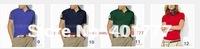 10 pcs Men's  Brand polo shirts,Women's short sleeve polo shrits.100% Cotton,Mix colors ,Clearance @Free shipping
