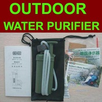 Free shipping,outdoor water clarifier soldier's water filter,100% remove the bacteria in water,suit for camping and emergency