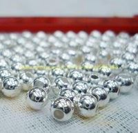 H7096 free shipping 1000pcs/lot wholesale 4mm spacer beads high-grade  925 silver beads quality beads jewelry accessories