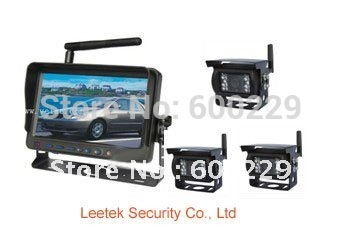 "FREE SHIPPING WHOLESALE 3pcs 420tvl 1/3""Color Sharp CCD bus/truck Vehicle rear view camera 2.4Ghz wireless Camera kit"