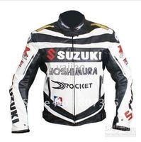 motorcycle Jackets racing jacket motorcycle SUZUKI jacket white/blue waterproof &windproof