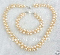pearl Jewelry AMAZING SET OF PINK PEARL NECKLACE BRACELET