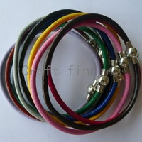 mix colors leather cord bracelets w magnet clasps 20cm FREE SHIPPING wholesale LBM2-1