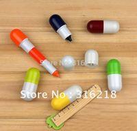 Promotion pen,creative capsule pen/ball pen/cute gift/50pieces per lot ,free shipping