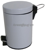 iron rubbish container with pedal/white/20L