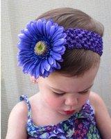 50pcs Girls' Baby Crochet headbands Daisy flower Waffle String hair bands New Design Camellias baby headbands