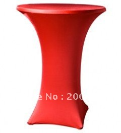 red cocktail table cover  /lycra chair cover/spandex chair cover