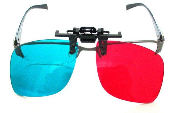 7211 Red Blue Cyan Plastic Myopia 3D Glasses Myopia Glass Clip On Movies Games(China (Mainland))