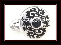 intime fashion free shipping Sell cheap,high quality,classic  plated enamel cufflinks (7315)