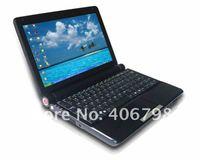 Black, free shipping,10 inch TFT LCD,Intel D425 1.8GHZ,Windows XP,WIN7,802.11b/g/n,1.3 MP Camera,Built-in microphone,Laptop