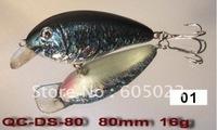 250pcs/lot Top quality Japan plastic fishing lure 80mm long 20g plastic minnow(5colors)