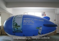 6 meters  Inflatable Advertising Helium Blimp/Airship/Zeppeline with Your BIG LOGO as you want /FREE Shipping