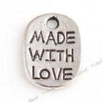 200 HOT SALE Carved Letter Charms Pendants Beads Loop METAL Pandent Fit DIY Handcraft 11*8mm 140646
