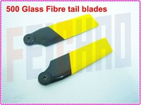 F01805 76mm Glass Fiber GF tail blades blade for Align T-Rex Trex 500 series RC Helicopter + Free shipping
