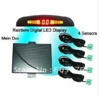 Rainbow LED parking sensor/car LED parking sensor-free shipping-RD-037C4