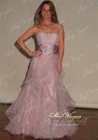 2015 new Evening Dress popular beautiful woman Lavender Strapless Evening Dress