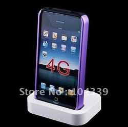 5pcs/lot x freeshipping Dock Cradle Charger Station for Apple IPHONE 4 4G(China (Mainland))