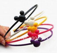 40pcs/lot Mickey Shape Bowknot HeadBand Kid/Children Hair Accessories+ Gift&Free Shipping