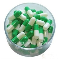Free shipping (10,000pcs/lot) separated 0# green/white gelatine capsule,medicine packing,empty capsule
