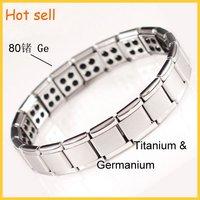 80 germanium power stone  titanium elasticity health Balance Bracelet 100pcs/lot