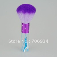 3pcs/lot Quality Nylon Makeup Brush Purple hair Acrylic Handle Blue Brushes Set Mushroom-shaped brushes E24