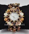 Free shipping 2011 New sweet style lady's quartz watch Hand woven fashion watch