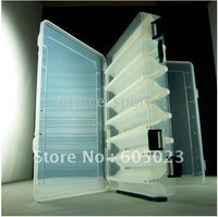 wholesale 30pcs/lot Top Quality Japanese V type of double-layer Tackle boxes PP RESIN container (small) free shipping