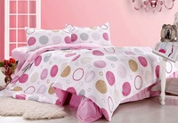 FREE SHIPPING, bedding set, 100%cotton, 4pcs(1 bed sheet+1 quilt cover+2 pillow cover),wholesale/dropship cp041