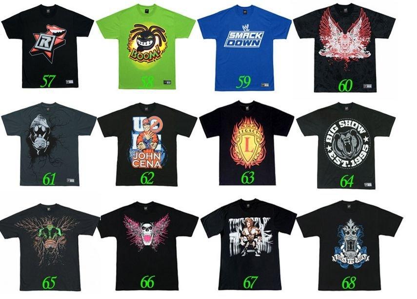 Free Shipping 20pcs wwe shirt,wwe wrestling t shirt,wwe john cena shirt MIX ORDER