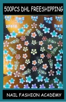 XF509-518 Freeshipping Nail art stickers 3D colorful flower design, nail decals