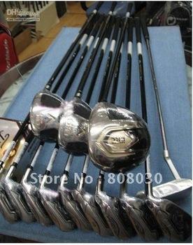 Wholesale - NEW golf ERC complete set golf full Clubs(3w+9I+1P)with bag Graphite/steel-Regular/stiff Flex FREE SHIP