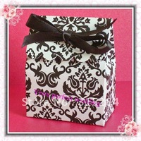 FREE SHIPPING--Hot Damask Wedding Candy Box/Bag (XY-498)