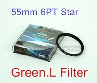 Green.L 55mm Star six 6 Point 6PT Filter for 55 mm LENS Camera Camcorder