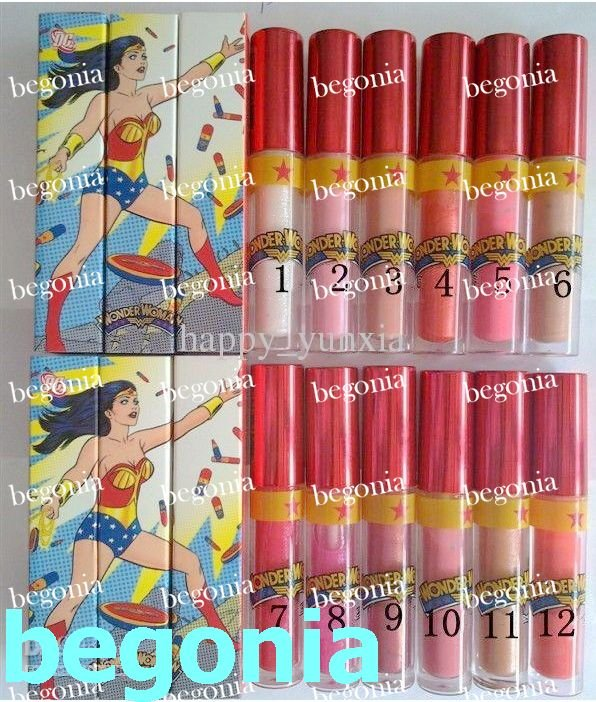 Free Shipping New Wonder Woman LipGloss Brillant A Levres 10.5g ( 80 pcs/lot)(China (Mainland))