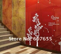 100*150CM,many differen't size,HOT SALE!Free shipping!8pc/lot,fashion tree  decorative room wall sticker paper wall sticker