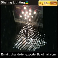 [Huizhuo Lighting]square contemporary crystal pendant lamps+free shipping