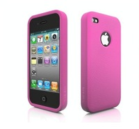 Durable silicone phone case for iphone 4 with your logo