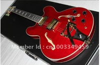 2011 G ES355 Custom Shop Cherry Stoptail 100% mint vibrato Electric guitar rde